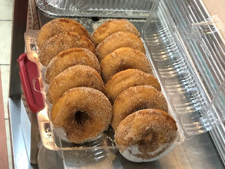 Apple donuts from Justus Orchard.