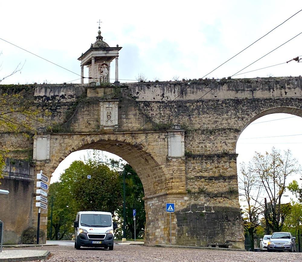 Aqueduct in Coimbra, Portugal.