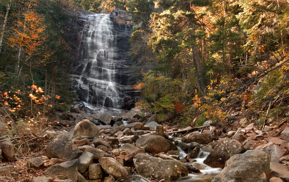 Arethusa Falls in Crawford Notch State Park.