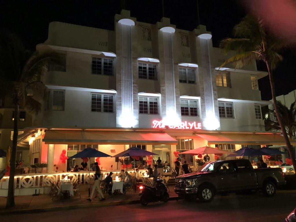 Art deco architecture in Miami Beach, Florida.
