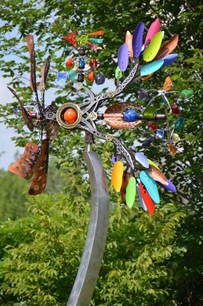 Art installation at Matthaei Botanical Garden.