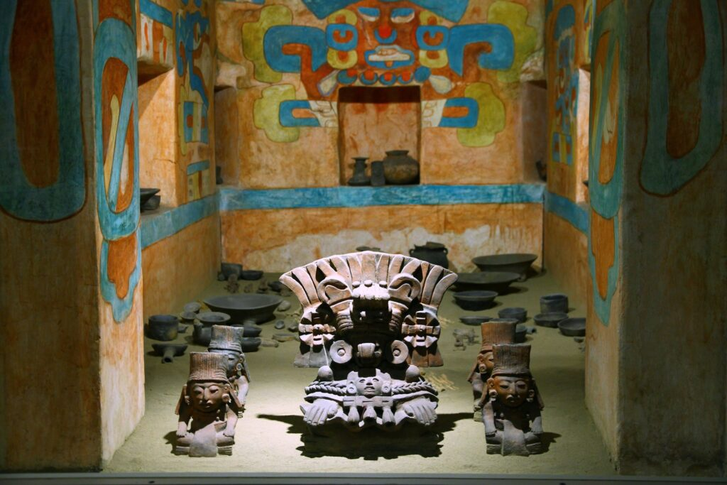 Artifacts from the tombs at Monte Alban.