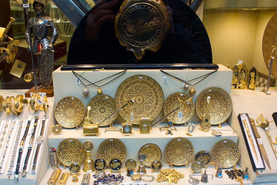 Artisan creations for sale in Toledo.