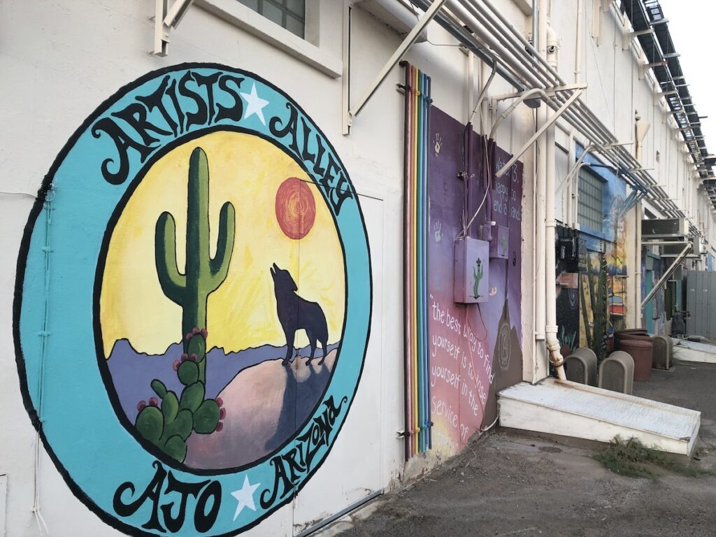 Artists Alley in Ajo, Arizona.