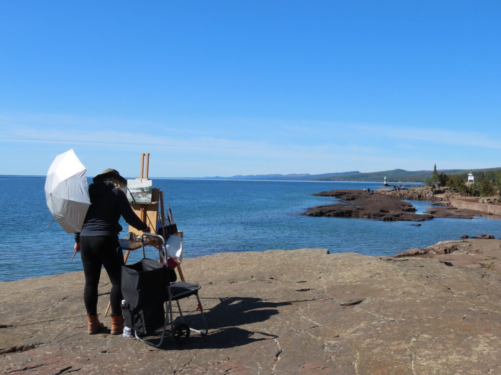 Artists's Point at the Grand Marais Lighthouse.