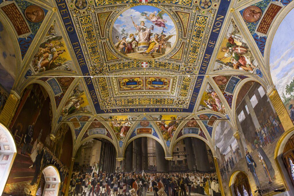 Artwork inside the Palazzo Pubblico.