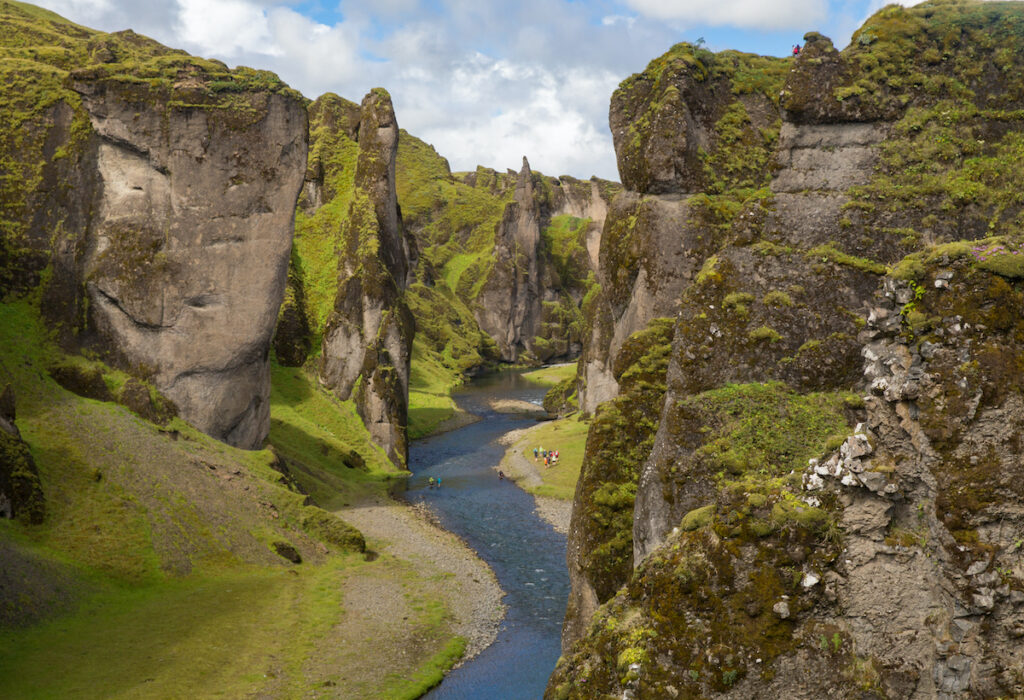 Asbyrgi Canyon in Iceland.