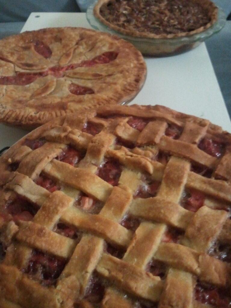 assortment of pies