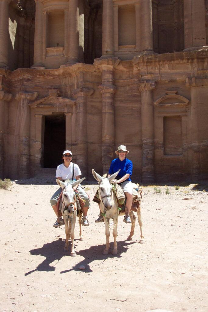 At Petra, an archaeological site in Jordan