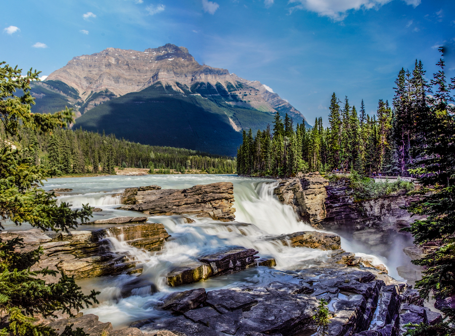 Athabasca Falls in Canada.