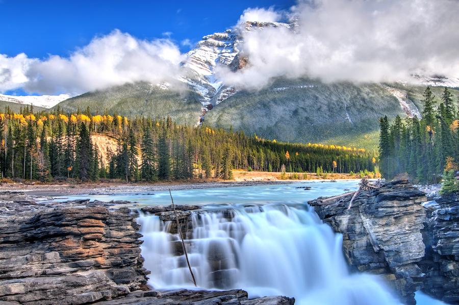 Athabasca Falls in Jasper, Canada.