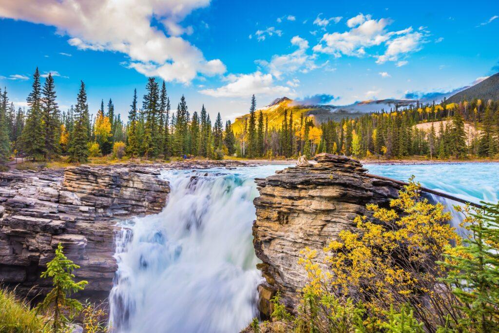 Athabasca Falls in Jasper National Park.