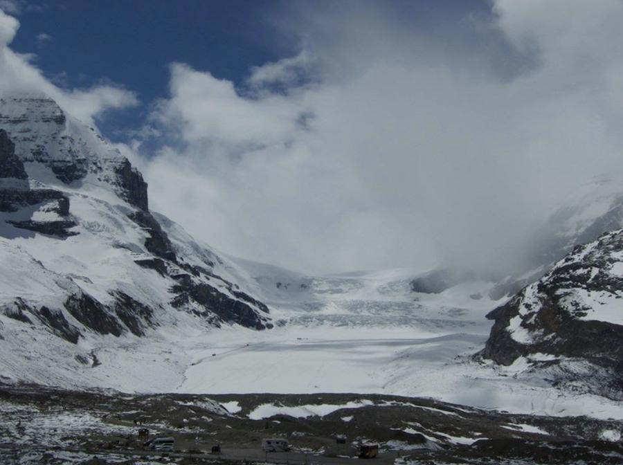 Athabasca Glacier in Canada.