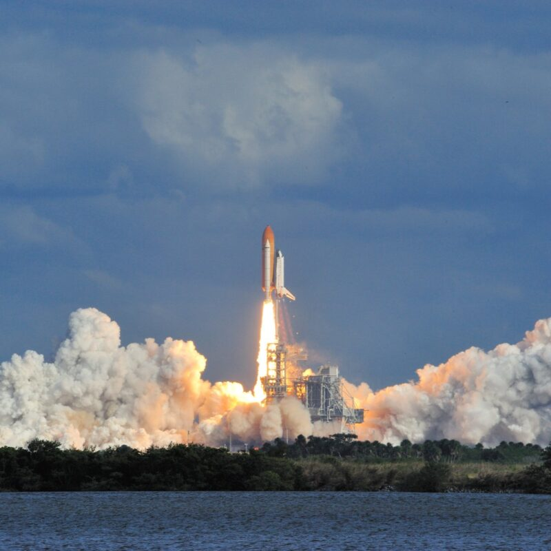 Atlantis launch, Kennedy Space Center, Florida.