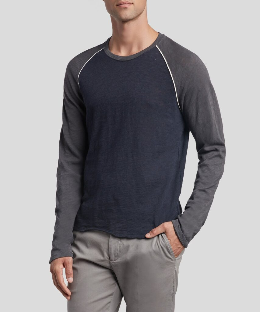 ATM Collection long sleeve navy shirt