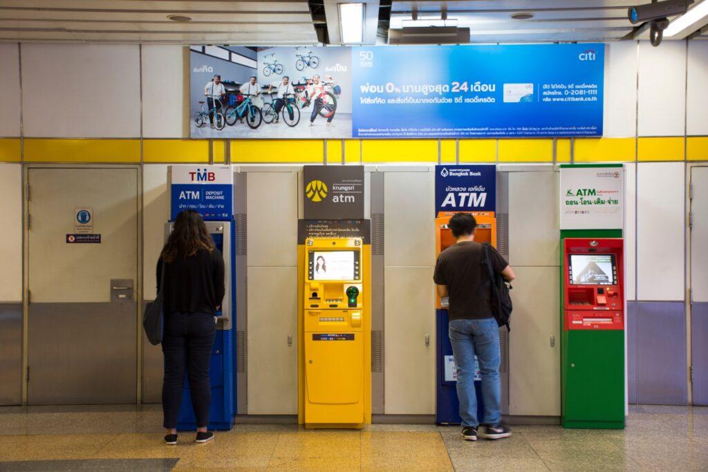 ATMs in Bangkok, Thailand.