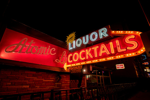 Atomic Liquors neon sign Vegas