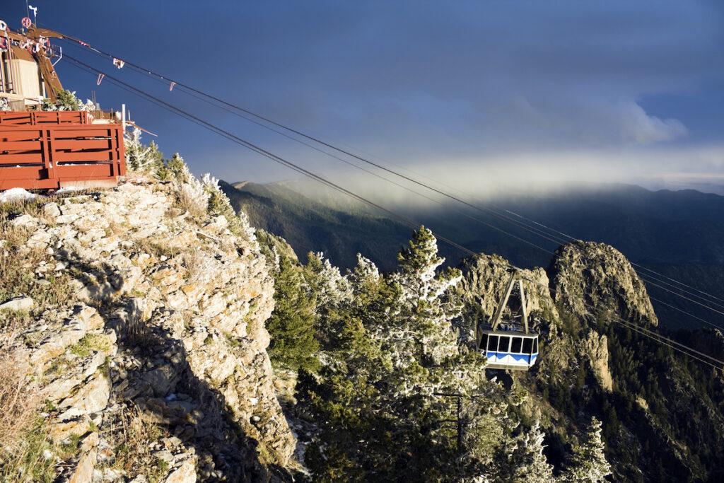 Atop the Sandia Peak Tramway.