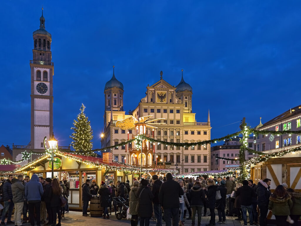 Augsburger Christkindlesmarkt in Augsburg, Germany.
