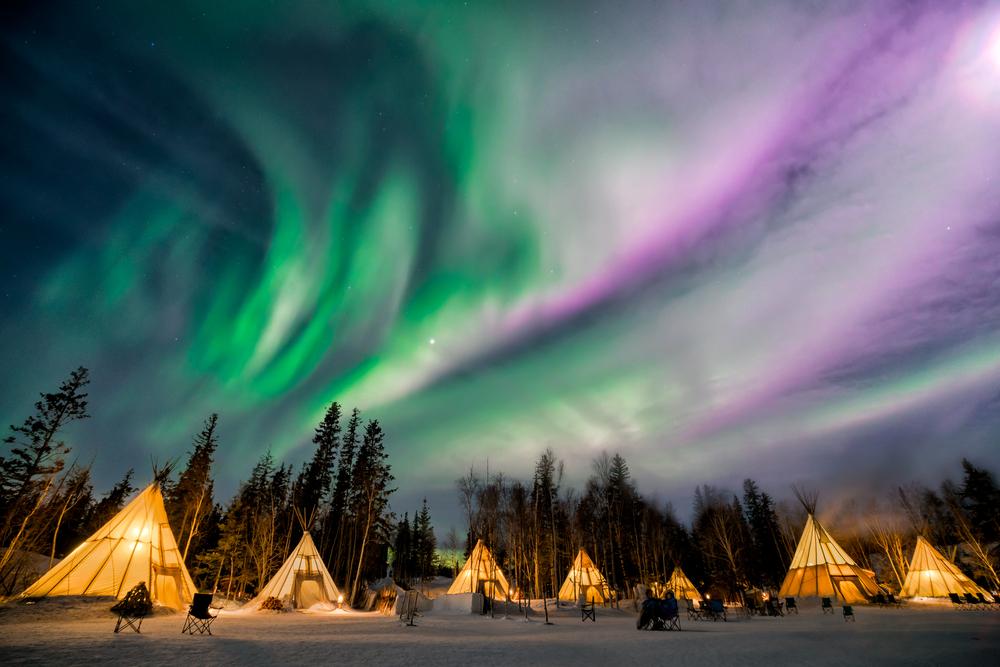 Aurora Village in Yellowknife, Northern Territories, Canada.