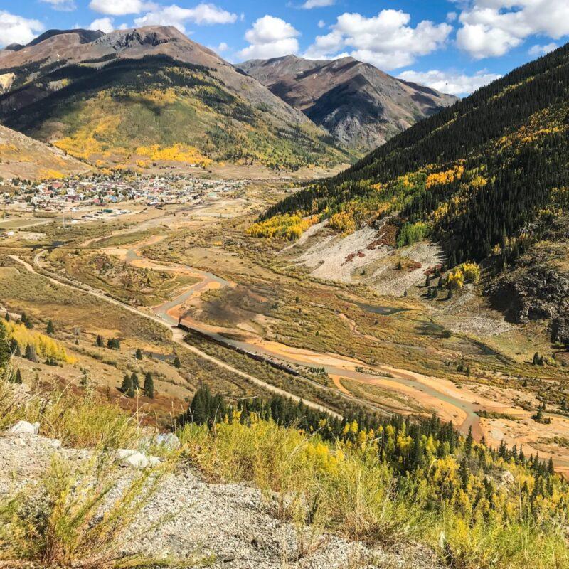 Autumn colors in Silverton, Colorado.