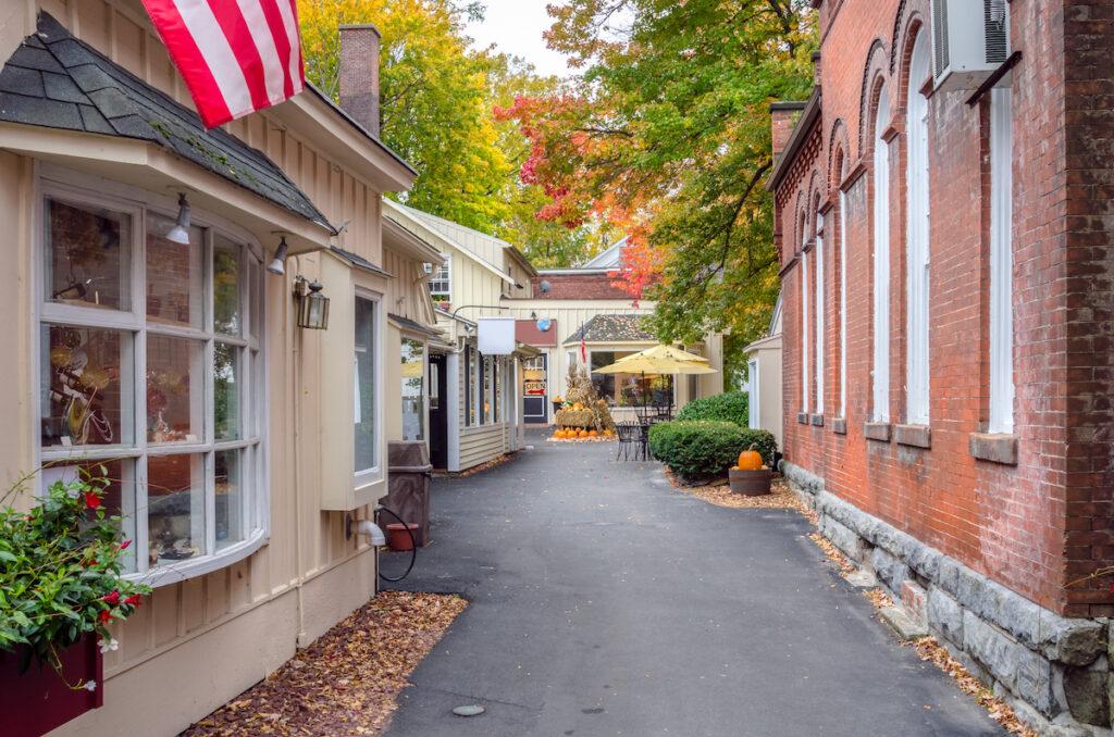 Autumn in the quaint town of Stockbridge, Massachusetts.