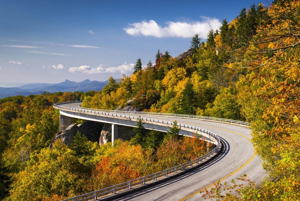Autumn views along the Blue Ridge Parkway.