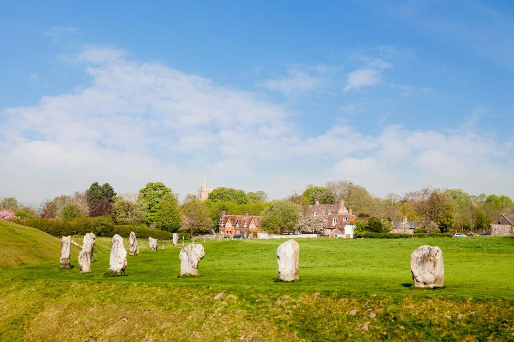Avebury Henge in Wiltshire, England.