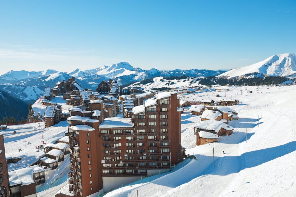 Avoriaz 1800, a ski resort in France.