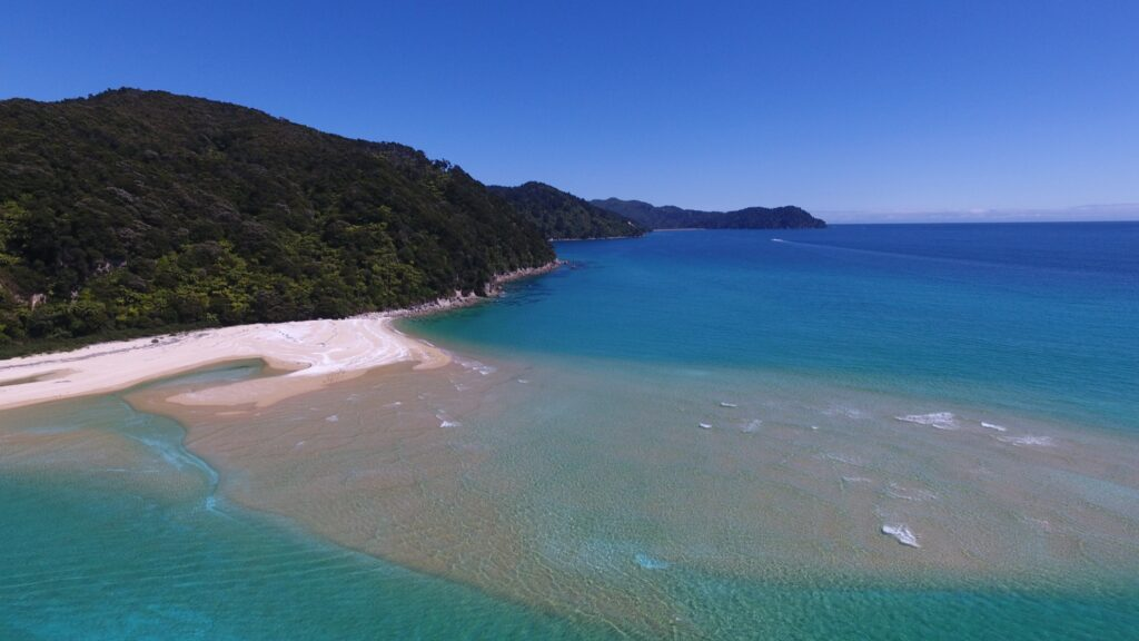 Awaroa Beach in New Zealand.
