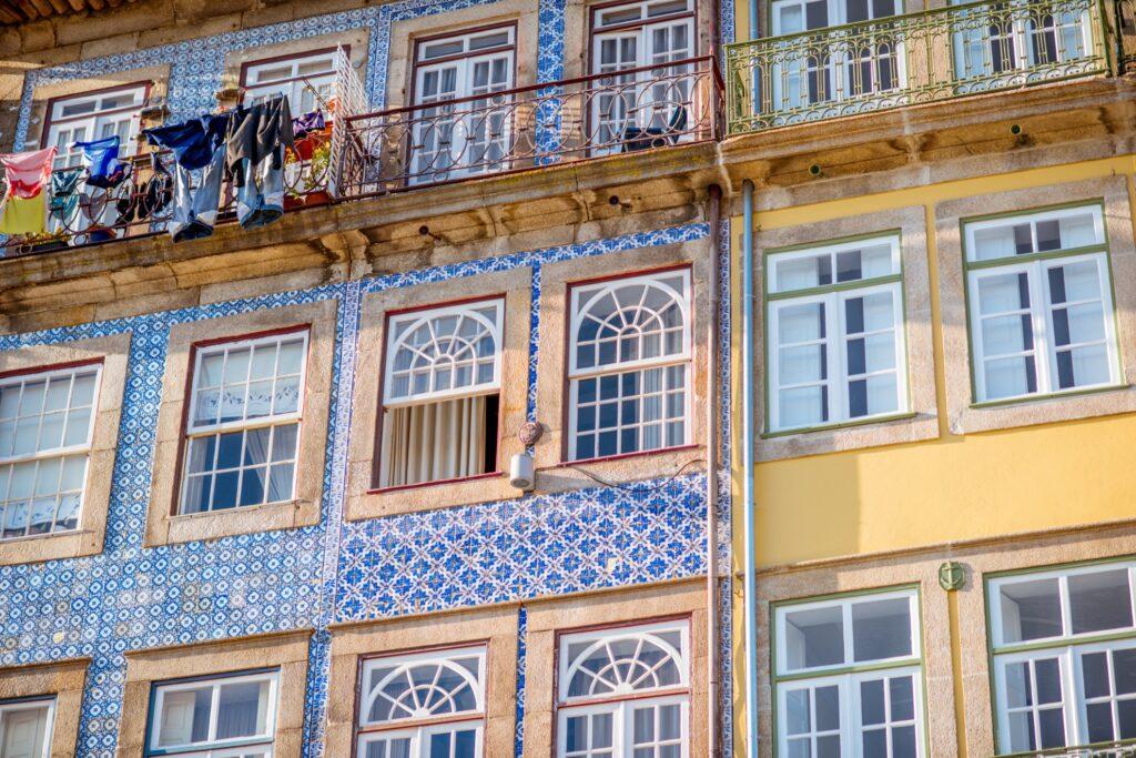 Azulejos Tiles in Porto, Portugal.