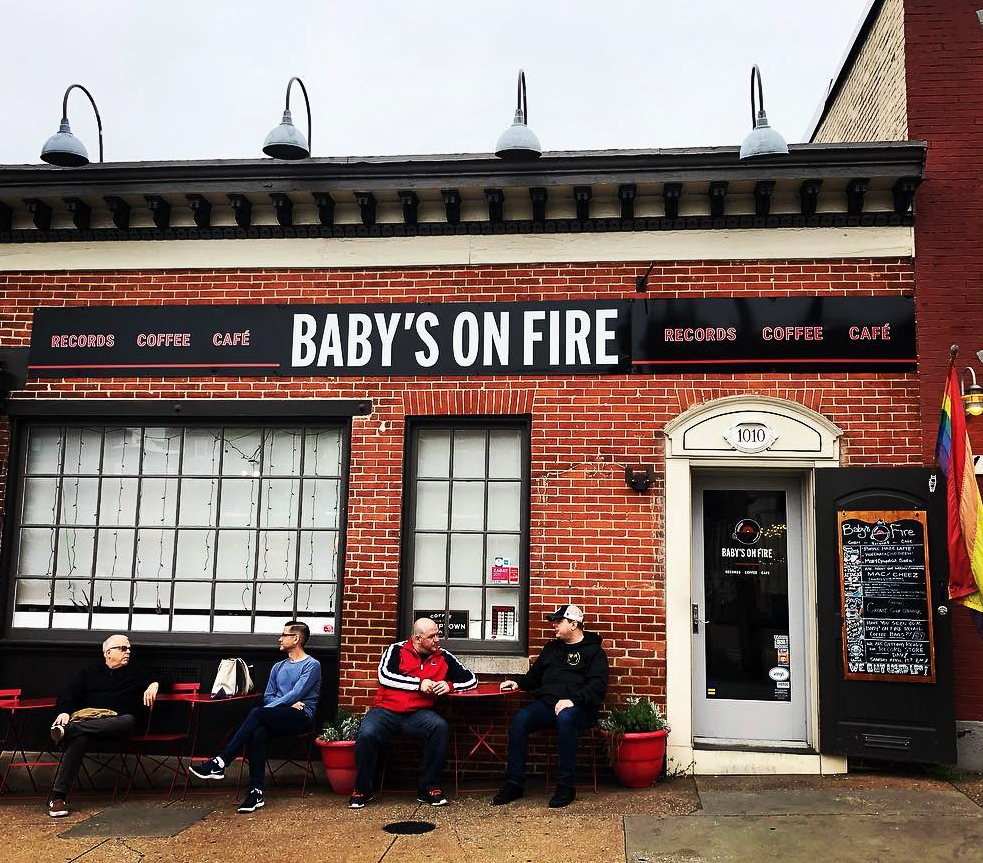 Baby's On Fire cafe and record store in Baltimore.