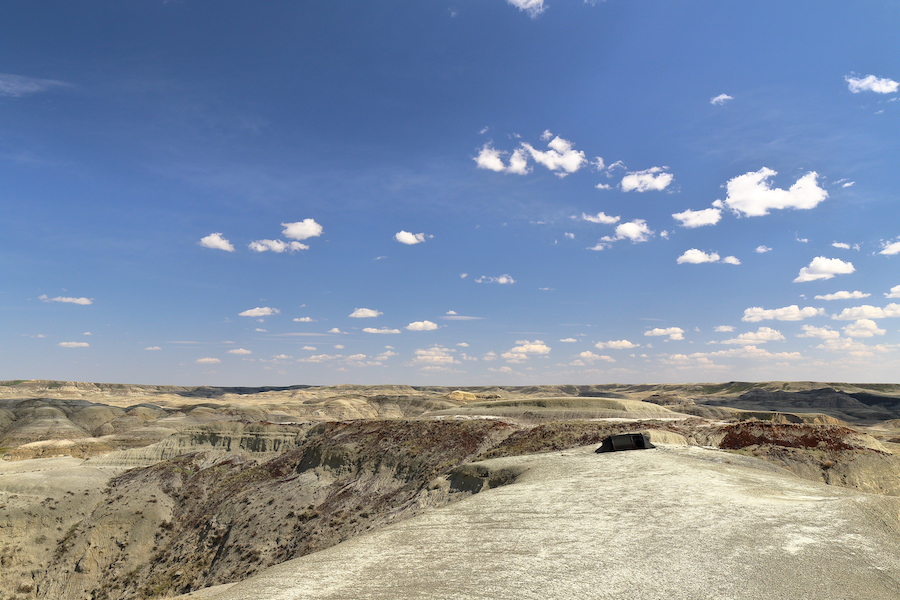 Backcountry camping in the East Block of Grasslands National Park.