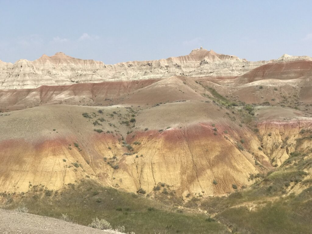 Badlands National Park in South Dakota.