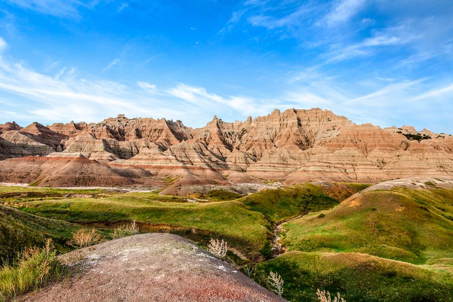 Badlands National Park in South Dakota.
