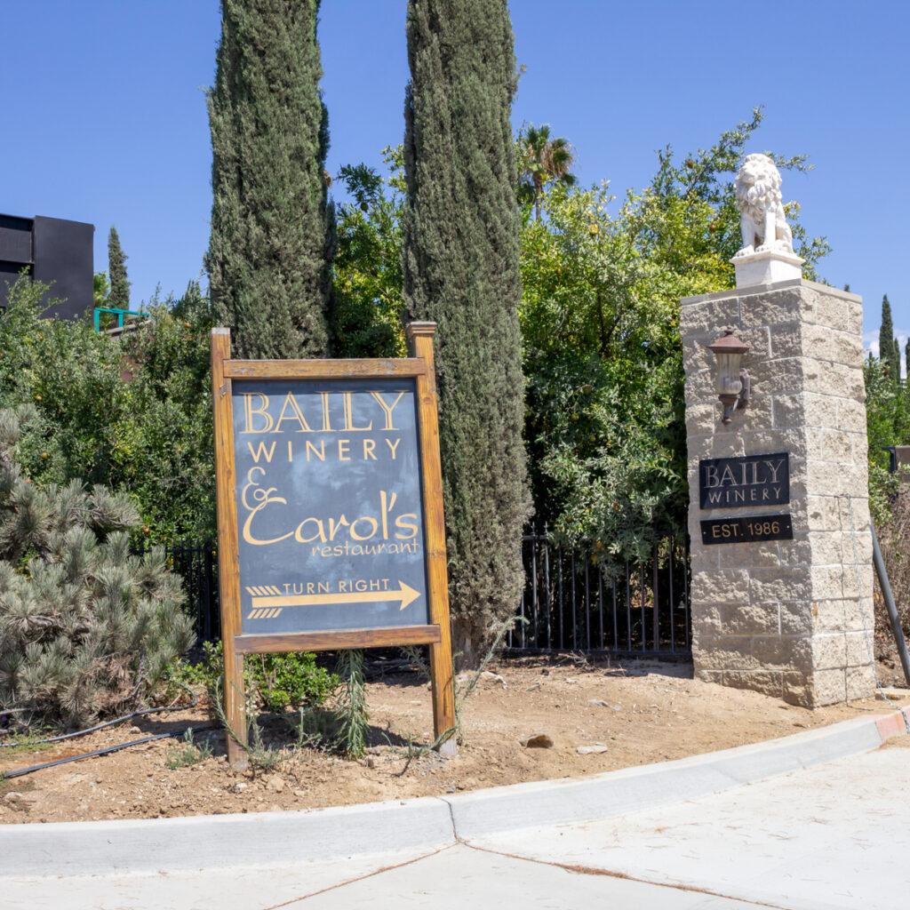 Baily Winery in Temecula, California.