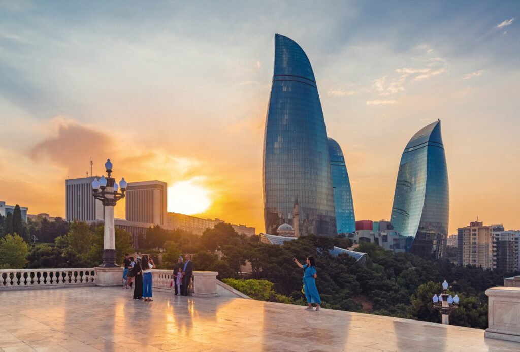 Baku Boulevard in Azerbaijan.