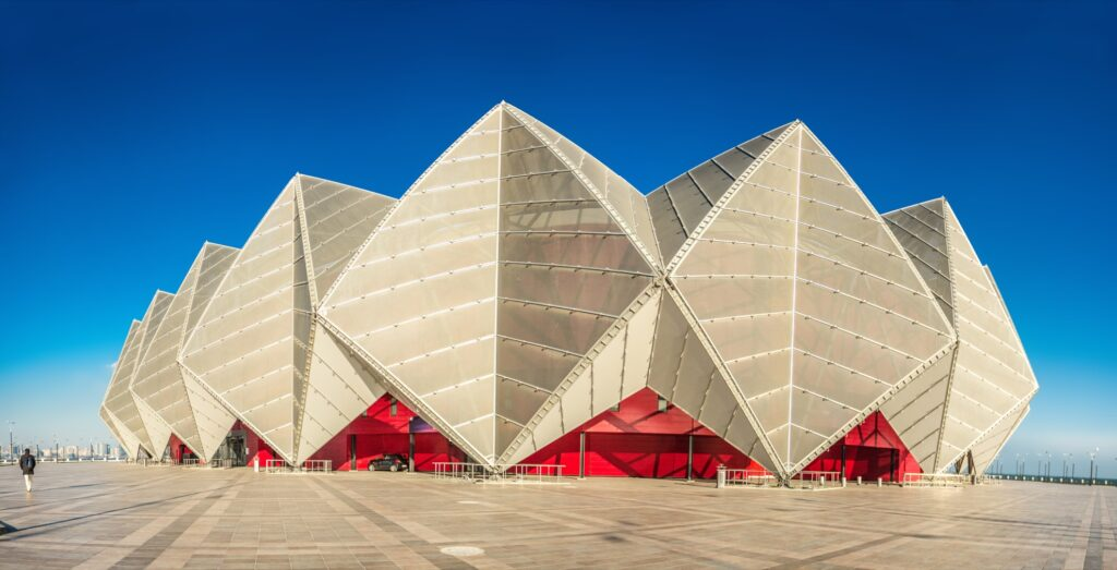Baku Crystal Hall in Azerbaijan.