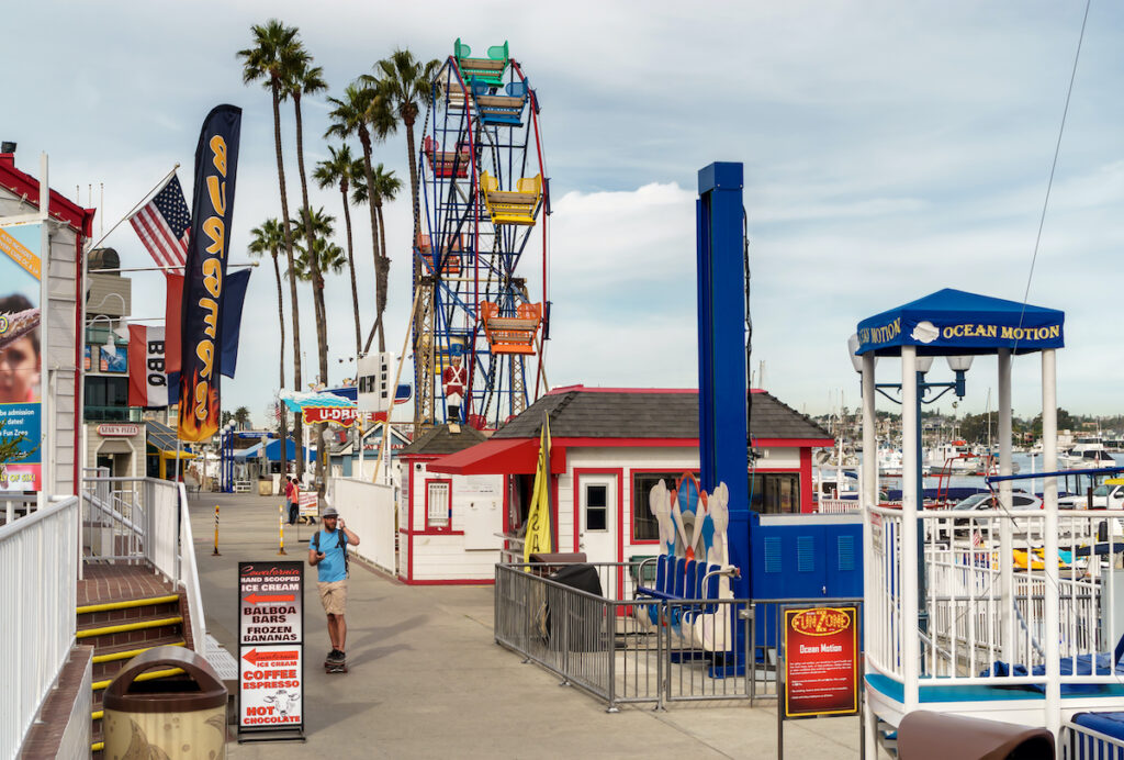 Balboa Fun Zone in California.