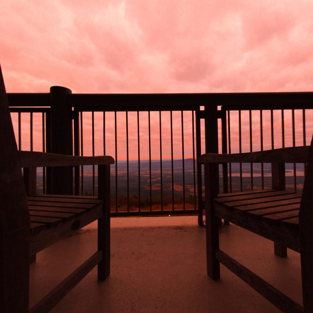 Balcony at Mount Magazine State Park Lodge