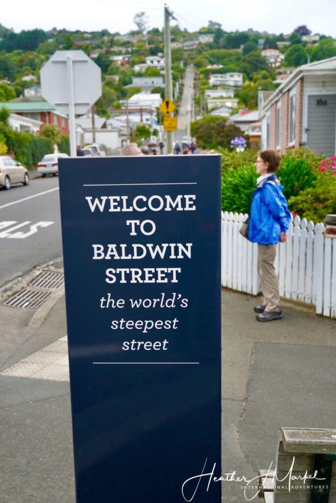 Baldwin Street in New Zealand.