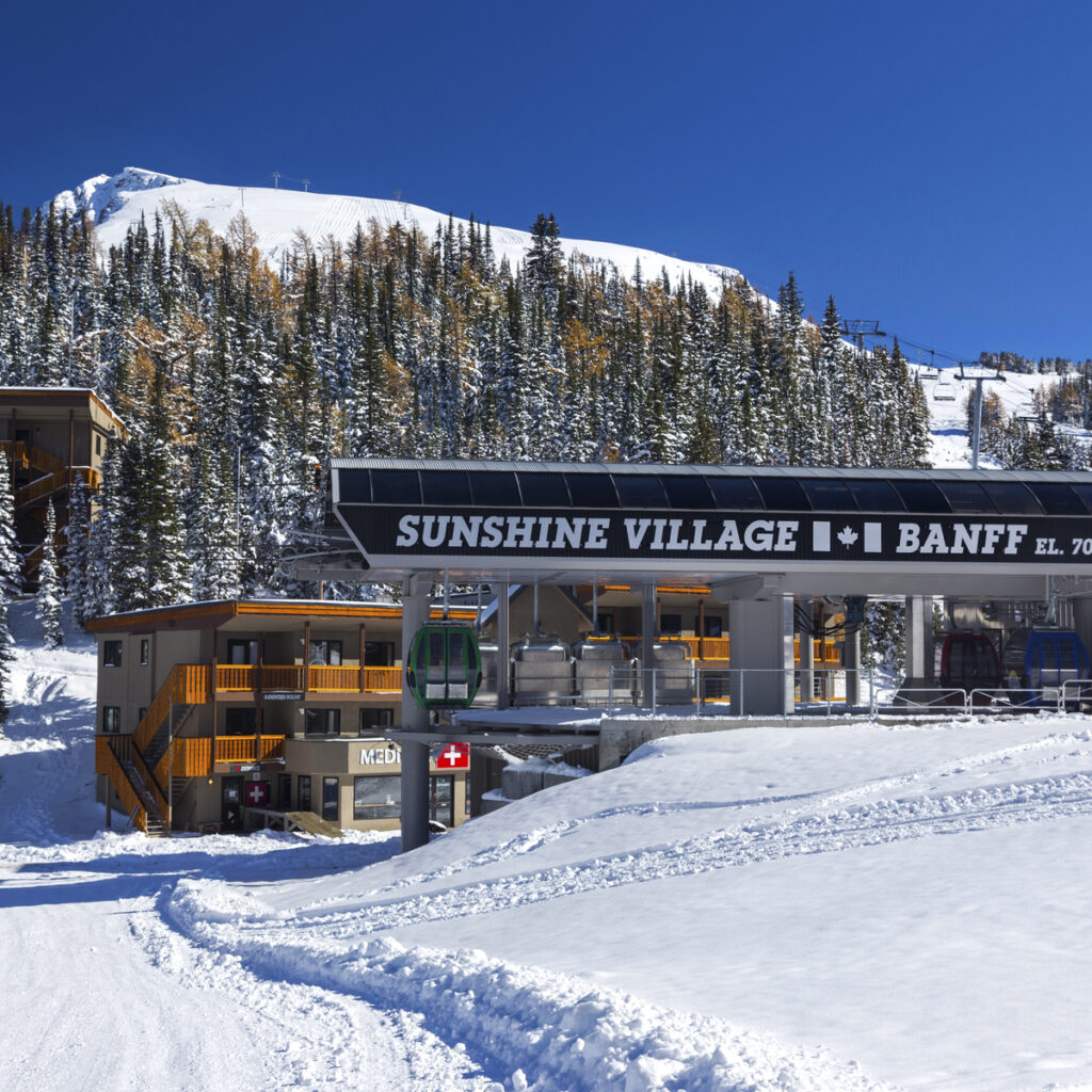 Banff Sunshine Village in Alberta, Canada.