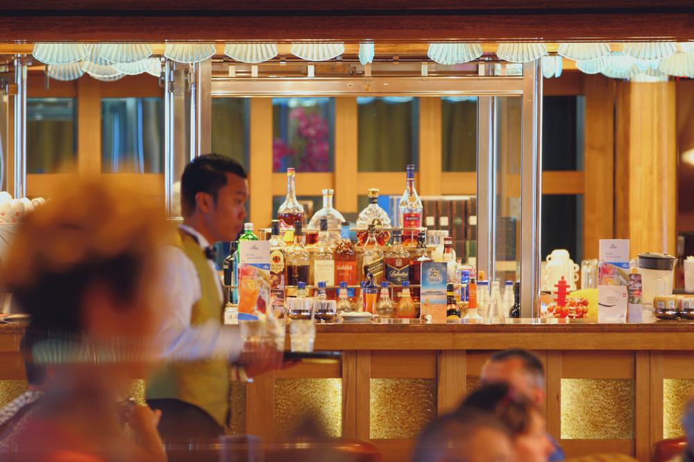bar on cruise ship