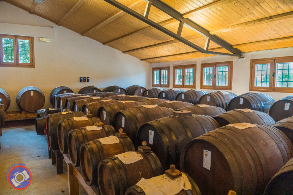 Barrels of Balsamic Vinegar Aging at Acetaia Cavedoni in Castelvetro