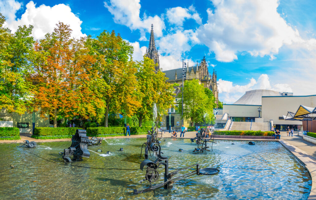 Tinguely fountain in Basel, Switzerland.