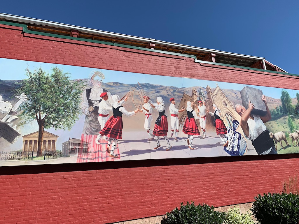 Basque wall mural in Boise, Idaho.