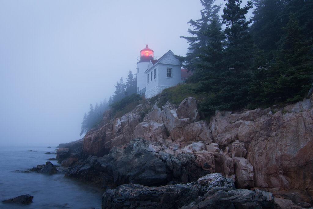 Bass Harbor Head Lighthouse in Acadia National Park.