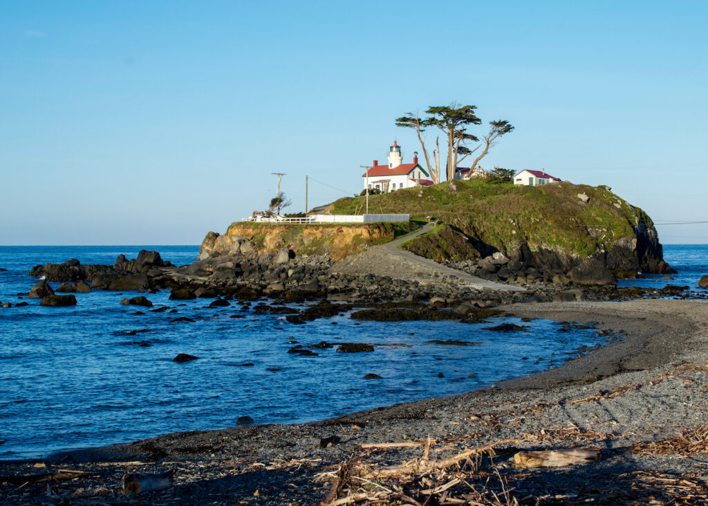 Battery Point Lighthouse in Crescent City, California.