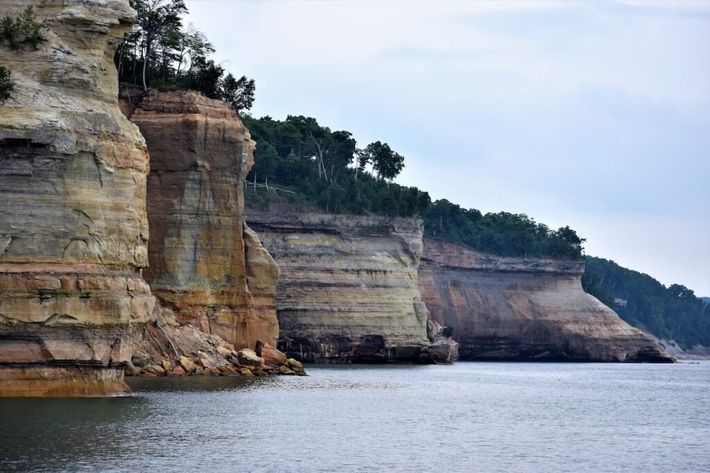 Battleship Row on Pictured Rocks National Lakeshore.