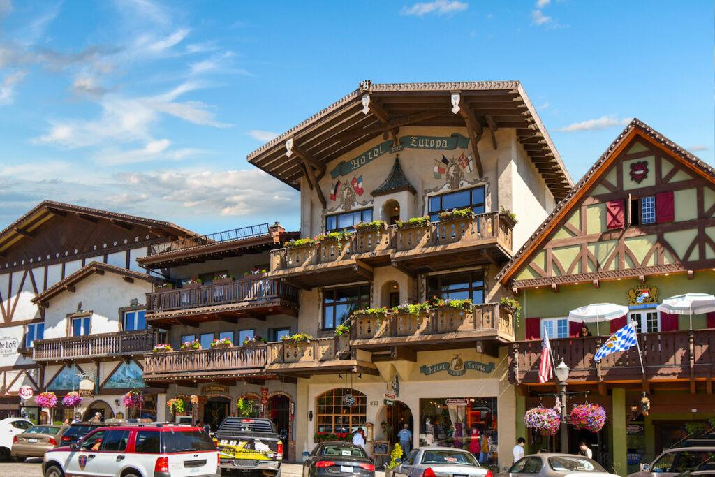 Bavarian buildings in Leavenworth, Washington.